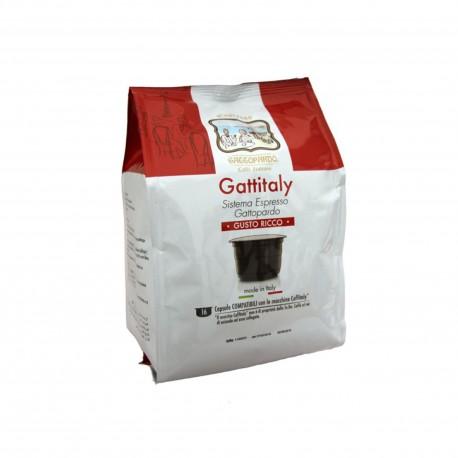 96 CAPSULE GATTOPARDO MISCELA GUSTO RICCO COMPATIBILI CAFFITALY