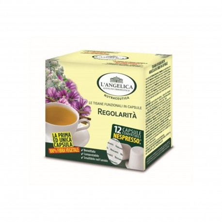 12 CAPSULE L'ANGELICA Com. Nespresso Regolarità