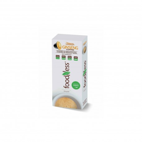 10 CAPSULE FOODNESS Comp. Nespresso GINSENG