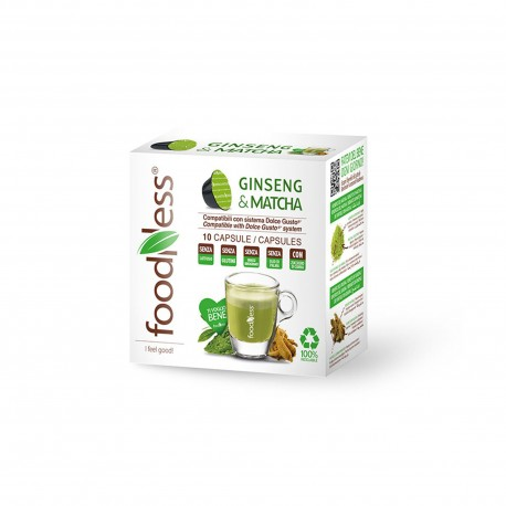 10 CAPSULE FOODNESS Comp. Dolce Gusto GINSENG & MATCHA