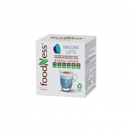 10 CAPSULE FOODNESS Comp. Dolce Gusto UNICORN LATTE