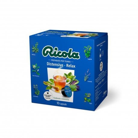 10 CAPSULE RICOLA Comp.Dolce Gusto Distensive Relax